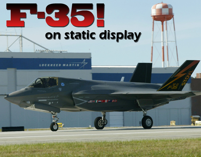 F-35 will be on static display at Air Power Expo 2014