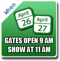 Air Power Expo will be on April 26 and 27. Gates open at 9AM, Show starts at 11AM.